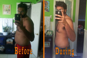 Mike Mathura before and during